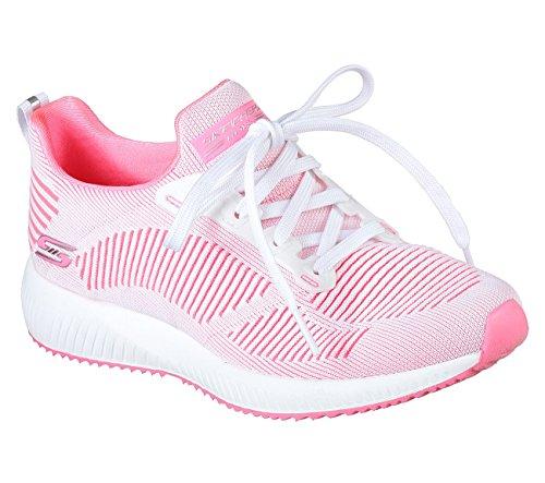 Skechers BOBS Damen BOBS Squad-Twinning Fashion Sneaker Weiß / Pink