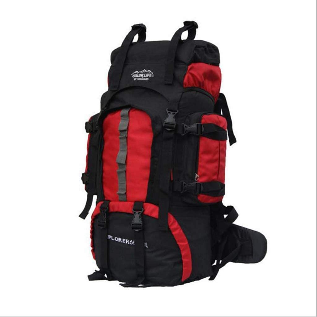 Zehaer Climb Backpack Outdoor Sports Waterproof Travel Hiking Bag Cycling Bag Sports Oxford Bag Backpack Multi-Color Optional,Red