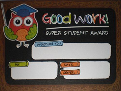 - Good Work Super Student Award Owl - Pack of 24