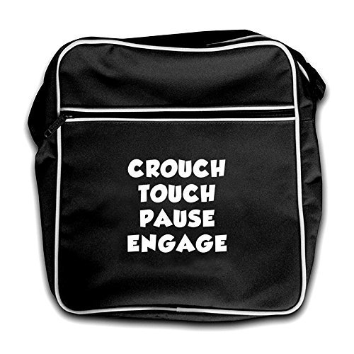 Touch Engage Crouch Flight Retro Black Red Pause Bag Dressdown 7xwtqOw