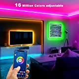 DAYBETTER Smart Bluetooth Led Lights 30ft, 5050 RGB