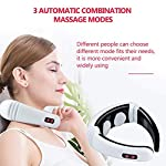 FMXYMC Electric Pulse Back and Neck Massager Far Infrared Heating Pain Relief Health Care Relaxation Tool Intelligent Cervical Massager