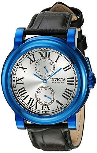 (Invicta Men's I-Force Black Leather Band Steel Case Quartz Silver-Tone Dial Analog Watch 22258)