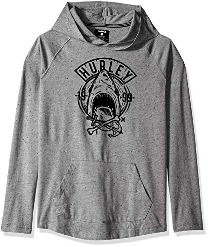 (Hurley Boys' Little Pullover Hoodie, Carbon Heather Novelty)