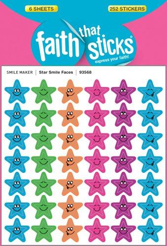 Star Smile Faces (Faith That Sticks Stickers)