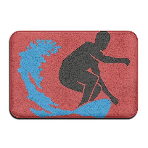 Surfer Silhouette Non Slip Car Carpet Shoe Scraper (Surfer Silhouette)