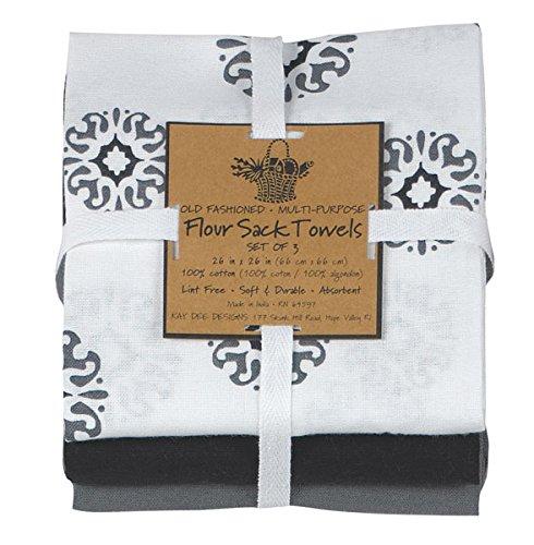 Kay Dee Designs Café Express Collection Medallion Flour Sac