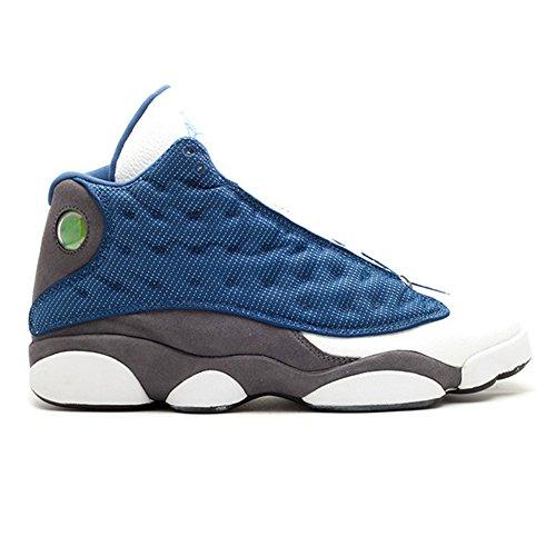 ance Sports Shoes AIR JORDAN 13 RETRO FLINT 2010 RELEASE 414571 401 Blue Men's Basketball Sneakers ()