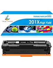 True Image Compatible Toner Cartridge Replacement for HP 201A CF400A 201X CF400X HP Color Laserjet Pro MFP M277dw M252dw M252n M277c6 M277 M252 M252dw Toner Ink (Black, 1-Pack)