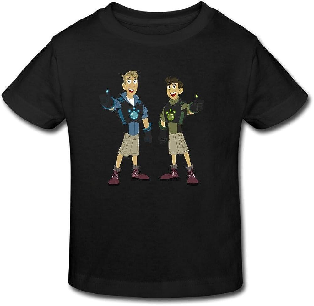 Jaxia Wild Kratts KidsCotton Youth Crewneck T-Shirt,Boys and Girls,White