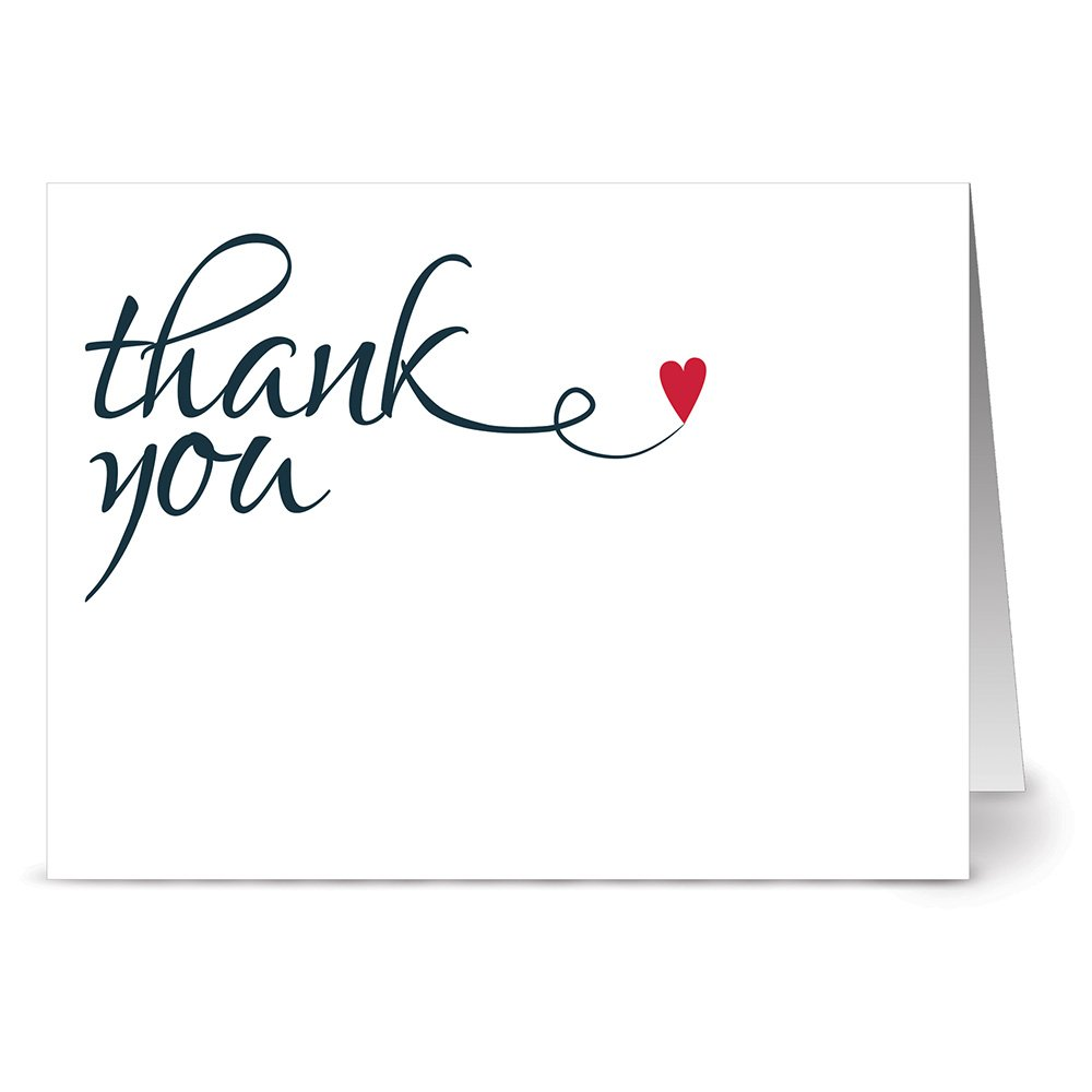 Amazon Com Simple Thank You Blank Cards 36 Count Gray Envelopes