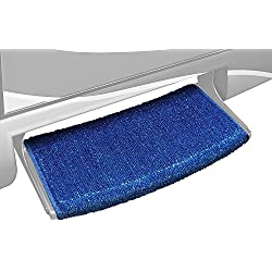 Prest-O-Fit 2-0204 Wraparound Radius RV Step Rug Imperial Blue 22 In. Wide