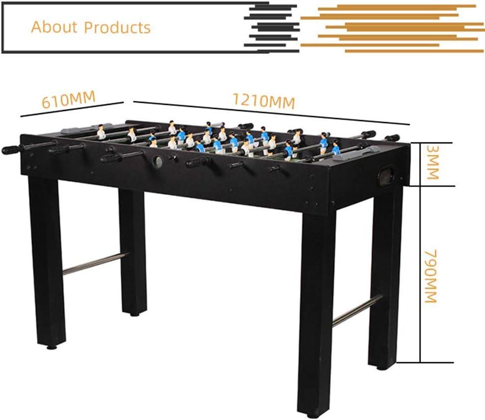 IOIOA Instalación Sencilla de futbolín Panel de MDF futbolín Doble Juego de puntuación analógica y Accesorios Libre Dimensiones - 1210 * 790 * 610mm: Amazon.es: Deportes y aire libre