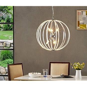 LeeZM Modern Orb Chandeliers Farmhouse 6-Light Indoor Industrial Barnwood Lantern Globe Pendant Lights Fixture Sphere Ceiling Lights Hanging Lamp For Dining Rooms Kitchen Island Foyer Entryway Bedroom