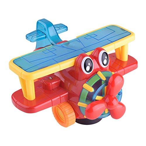 Music Toys , Kingspinner Children Cartoon Electric Walking Plane 3D Light Music Children's Toys Gift Birthday Gift For Kids --Color Random