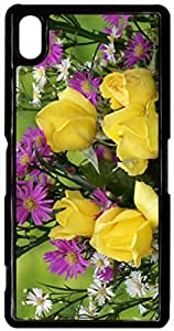 Yellow-Roses-Flower for Sony Z2 Cover Sony Z2 Shell Xperia L50W Case