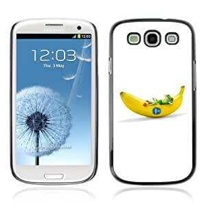 Designer Depo Hard Protection Case for Samsung Galaxy S3 / Cool Frog & Banana