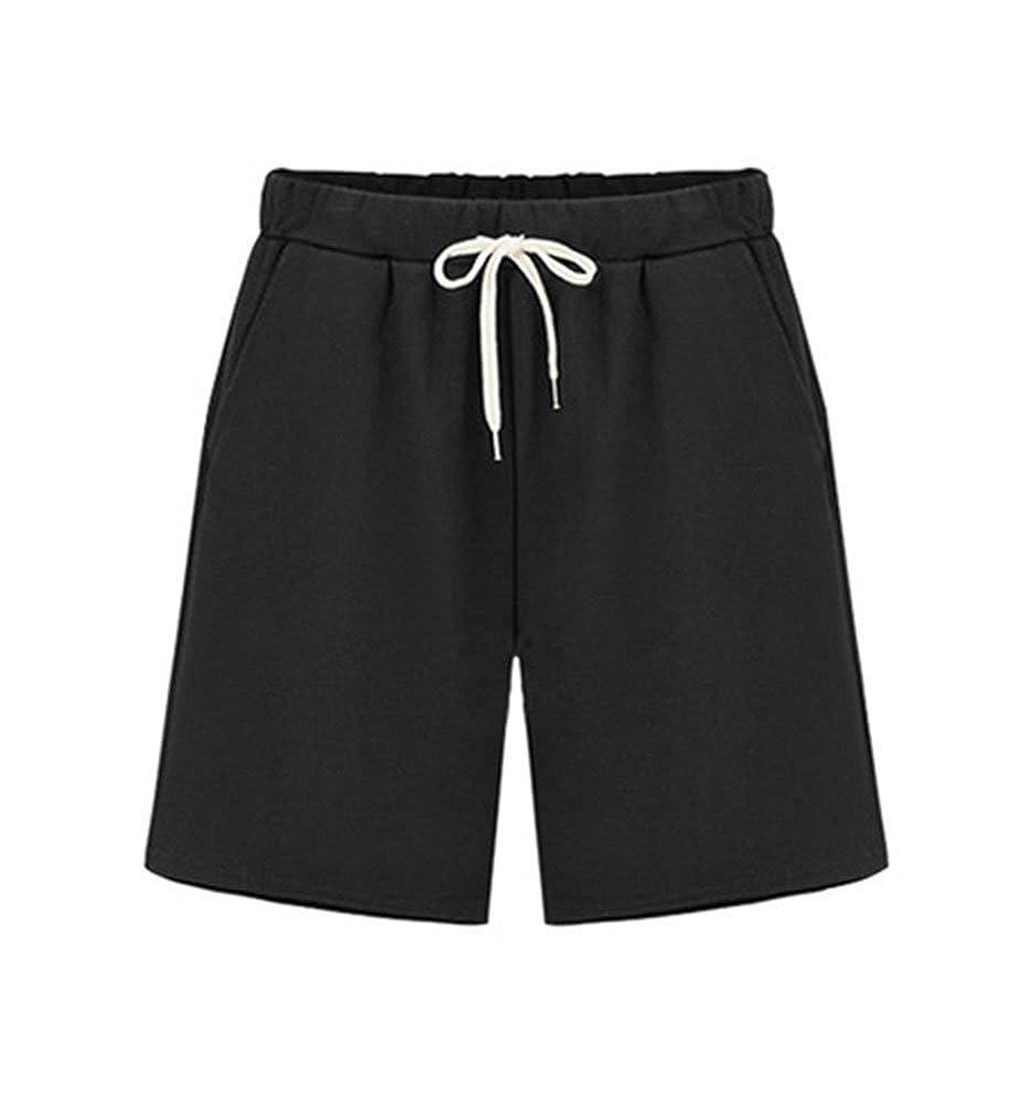 YiLianDa Damen Shorts High Waist Vintage Baumwolle Basic Kurz Hose  Amazon. de  Bekleidung f423844a0a