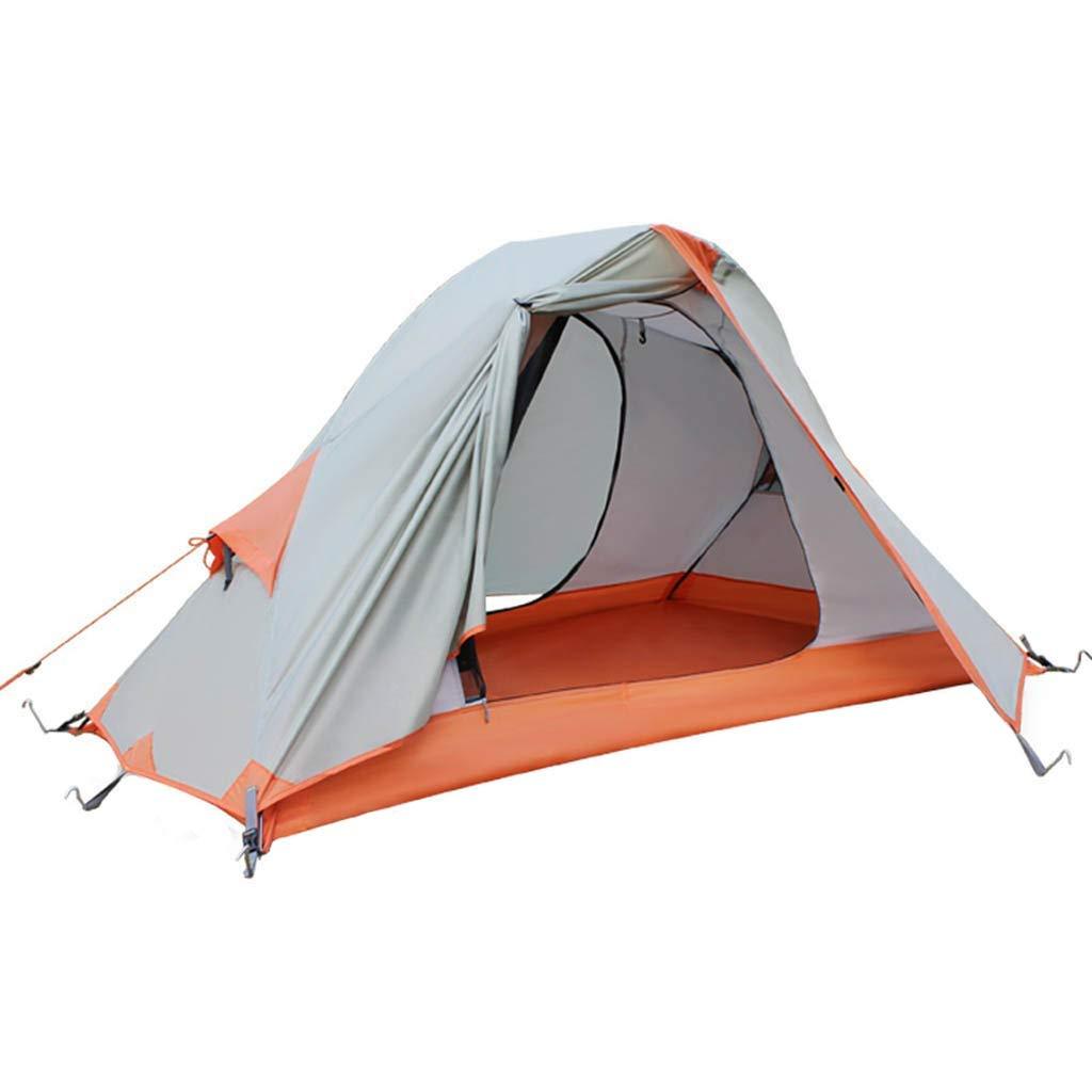 CATRP ブランド 屋外テント 1-2人 レインプルーフ 吹雪防止 4シーズン キャンプ 家族のテント 、オレンジ   B07P4LGZQD