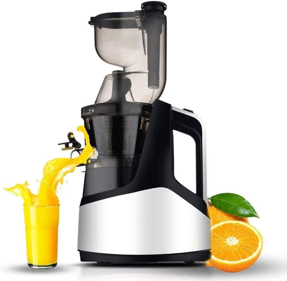 Mini Juicers Orange Blenders, Juicers Whole Fruit And Vegetable Easy Clean, Low Speed Large Wide Mouth Feeding Inlet Freshly Pressed Mixers machine (Color : Silver)