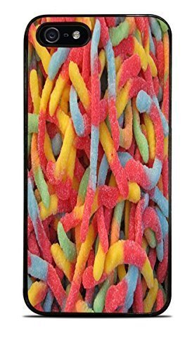 Candy Gummy Worms Black Hardshell Case for iPhone 5 / 5S