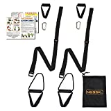 NOSSK TWIN PRO Bodyweight Fitness Strap Trainer (Black)