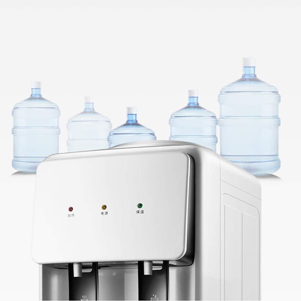 ホームデスクトップミニ温水ディスペンサー、プッシュスイッチ便利な取得水省エネ水加熱機、白、温水/温水