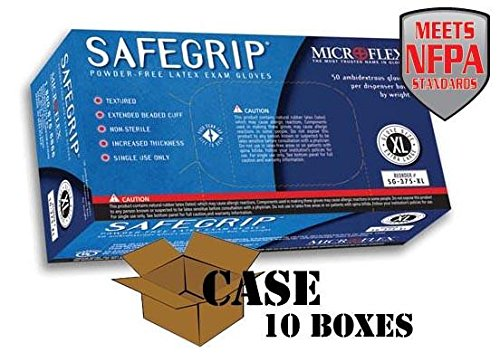 Microflex - SafeGrip Powder-Free Latex Exam - Case Size X-Large by Disposable Glove (Image #1)