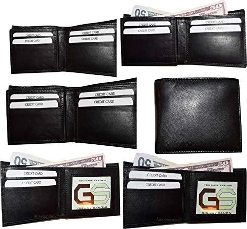 of Billfold Leather 3 ID New Brand case Change Lot Wallet Bifold case Men's 6 qZSwRF71