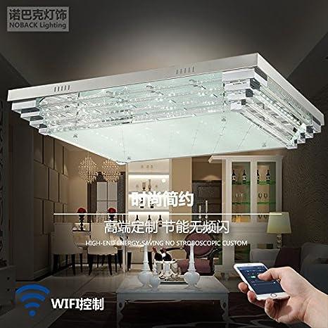 _ Plano cristal lámparas planas de cristal lámpara led techo ...
