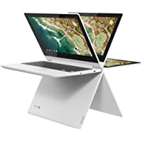 Lenovo Chromebook 2-in-1 Convertible Laptop, 11.6-Inch HD (1366 x 768) IPS Display, MediaTek MT8173C Processor, 4GB LPDDR3, 32GB eMMC, Chrome OS, Blizzard White, Choose Your eMMC
