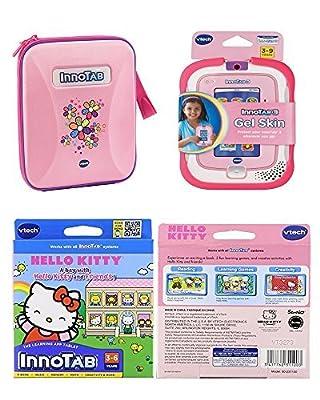 Children's Vtech Innotab Software & Accessory Bundle - 3 Items: Vtech Innotab Pink Storage Tote, Pink Gel Skin, & Hello Kitty Software