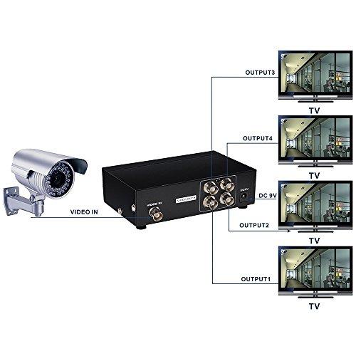 Output Video Splitter (YueYueZou® 4 Ports BNC Video Splitter Distribution Amplifier)
