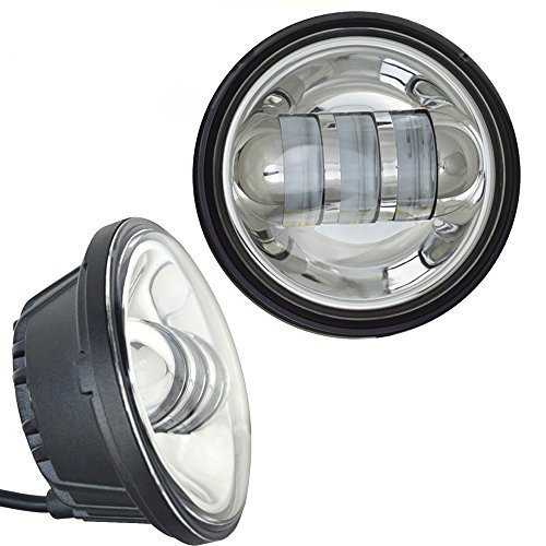 AUSI-Chrome-7-Inch-Daymaker-Replacement-Harley-LED-Headlight-45-Inch-Fog-Lamps-FIT-Harley-Davidson-Motorcycle-Dyna-Switchback-Electra-Glide-Softail-Fat-Boy-Softail-Heritage-Touring