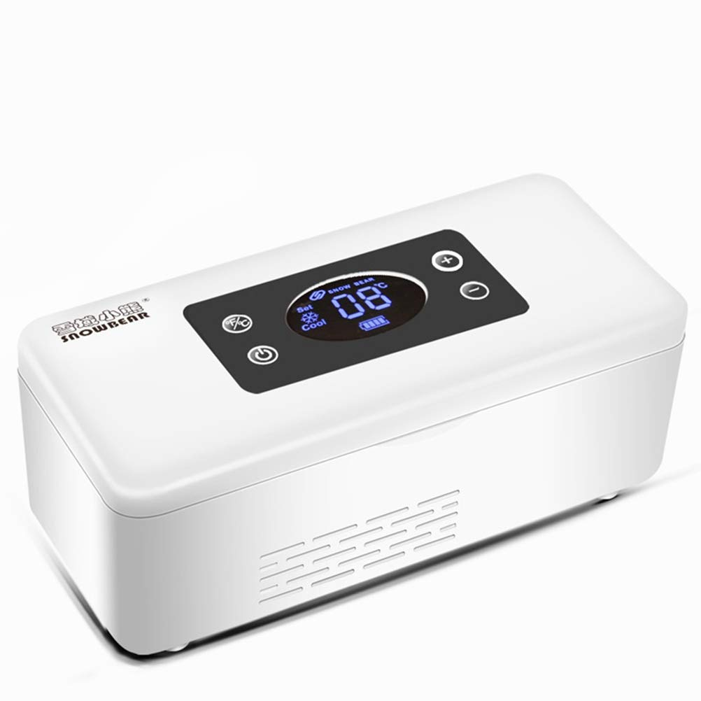 Xycar Portable Car Insulin Cooling Box 12V Mini Medicine Thermostat Refrigerator 2-25℃ Household and Automovie Dual-use