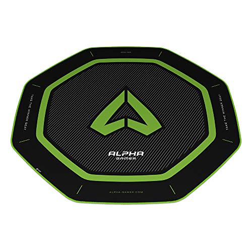 Alpha Gamer Octan - Green (Floor Mat, Alfombra del Suelo, Gaming)