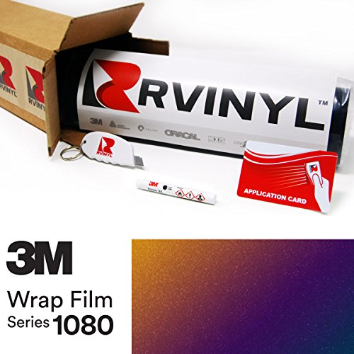 3M 1080 GP278 GLOSS FLIP DEEP SPACE 4in x 6in (Sample Size) Vinyl Vehicle Car Wrap Film Sheet - Space Wrap