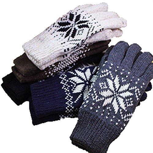 kinkostore(キンコウストア) 雪柄ノルディック リブニットグローブ 毛糸 手袋 メンズ レディース 男女兼用 てぶくろ