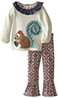 Mud Pie Little Girls' Squirrel Tunic and Legging