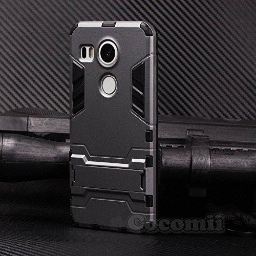 Cocomii Iron Man Armor LG Nexus 5X Case New [Heavy Duty] Premium Tactical Grip Kickstand Shockproof Hard Bumper Shell [Military Defender] Full Body Dual Layer Rugged Cover for LG Nexus 5X (I.Gray)