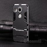 LG Nexus 5X Case, Cocomii Iron Man Armor NEW [Heavy Duty] Premium Tactical Grip Kickstand Shockproof Hard Bumper Shell [Military Defender] Full Body Dual Layer Rugged Cover Google (Gray)