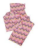Malabar Bay Women's Zig Zag Pajama Set Small Pink