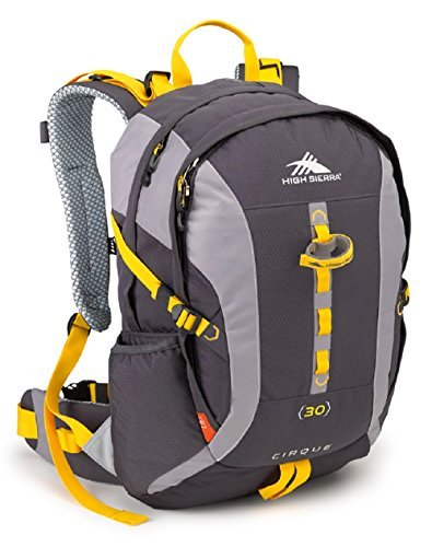 High Sierra Cirque Internal Frame Hiking Backpack, Mercury/Ash/Yell-O