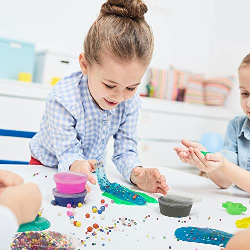 WonderCo Slime Kit with Everything! The Ultimate Slime Kit with Pre-Made Slime for Kids. Dragon Eggs, 18 Colors, Cloud Slime, Unicorn Supplies and Glitter DIY Accessories for Boys and Girls by WonderCo (Image #3)