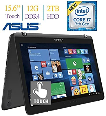 2017 ASUS 15.6 2-in-1 Touchscreen FHD (1920 x 1080) Laptop PC, 12GB DDR4 RAM, Backlit Keyboard, Windows 10 by Asus