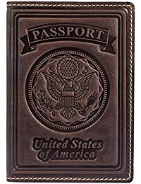 100% Leather US Passport Holder Cover Case For Men Women In 9 Colors