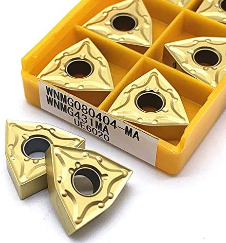 WITHOUT BRAND 10pcs WNMG080404 MA VP15TF / UE6020 / US735 Karbid-Einsätze Externe Drehwerkzeug WNMG 080404 Drehwerkzeuge Fräser CNC-Werkzeug (Farbe : WNMG080404 MA UE6020)