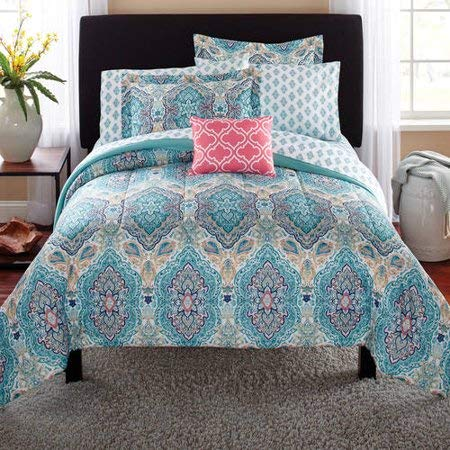 Mainstay Monique Paisley Complete Bedding Set, King ()