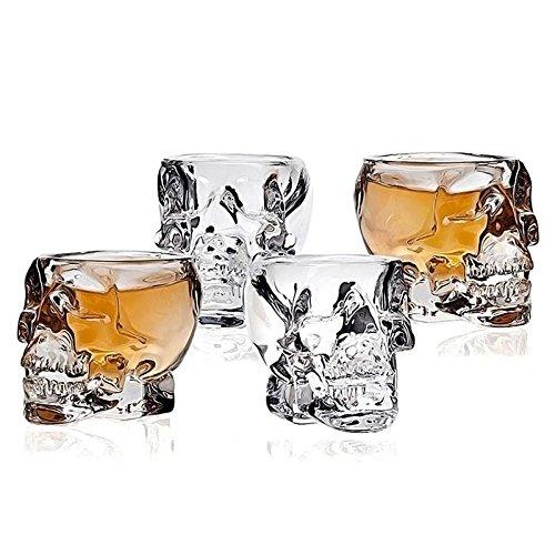 Springdoit Skull Designed Skull Cup Gothic Skeletal Mug Wine Glasses Glassware from Springdoit