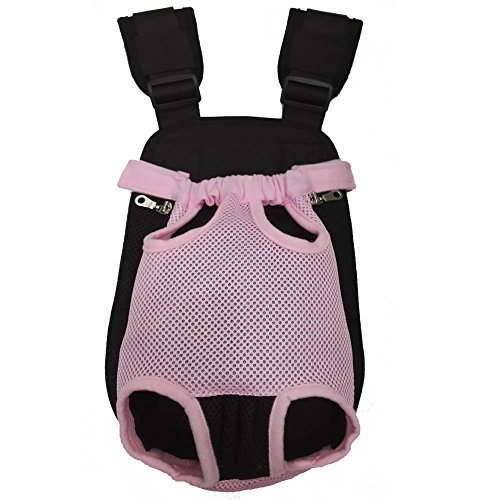 HANCIN Cat Dog Carrier Front Pack for Walking Travel Hiking Camping, Pink, Large Size